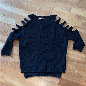 Black Sweater with Shoulder/Arm Slits